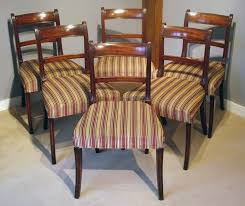 set of six antique dining chairs regency mahogany dining chairs