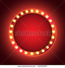 light bulbs vintage neon glow round stock vector 316142243