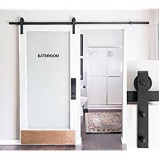 Barn Door Box Rail Amazon Com 8 Foot Heavy Duty Sliding Barn Door Hardware Kit