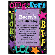 birthday party invitations talk birthday party invitations paperstyle
