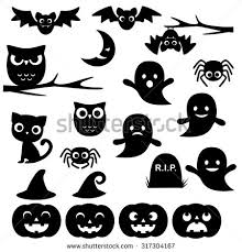 halloween clipart cute collection halloween silhouette stock images royalty free images u0026 vectors