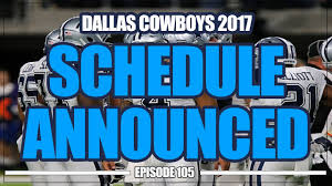 dallas cowboys thanksgiving record dallas cowboys 2017 schedule released youtube