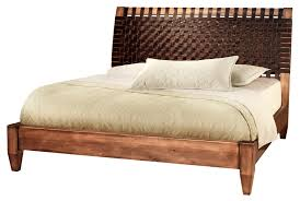 low profile bed frame size with unique headboard arafen