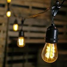 Edison Bulb String Lights Commercial Edison Drop String Lights 50 Warm White Leds 100 Ft