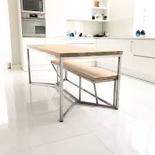 solid oak stainless steel dining table by cosywood solid oak stainless steel dining table