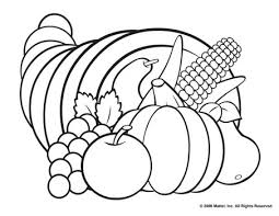 free thanksgiving cornucopia coloring pages happy thanksgiving