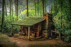 wood cabin log cabin appalachian mountains forest cabin smoky