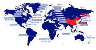 Beijing On World Map by China Msci