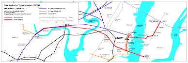 Hudson Bergen Light Rail Map Hudson Tubes Hudson U0026 Manhattan Railroad Path Image Gallery