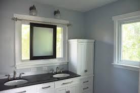 Sliding Bathroom Mirror Remodelaholic Master Bathroom Renovation With Sliding Mirror