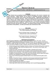 Sample Speech Pathologist Resume by Speech And Language Pathologist Resume Sales Pathologist Lewesmr