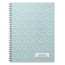 giraffe pattern notebook blue giraffe notebooks journals zazzle