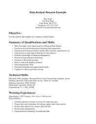 Project Analyst Resume Sample by Sample Data Analyst Resume Sample Resume Format
