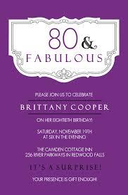 birthday invites awesome 80th birthday invitations designs