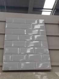 beveled subway tiles bunnings kitchen pinterest beveled