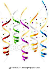 party streamers vector party streamers clipart drawing gg58114414 gograph