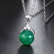 green agate necklace images Silver green agate pendant necklace missty silver jewelry jpg