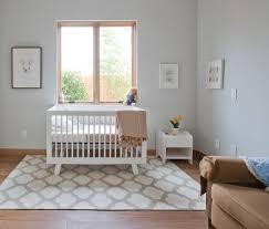 Modern Nursery Rug Trellis Rug Soft Colors White Furniture Via Houzz Neutral
