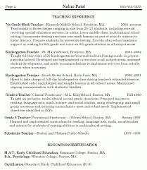 math teacher resume sample best resume collection