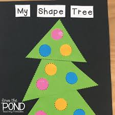 christmas card freebie 2d shape art projects frog spot