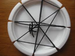 halloween paper plate spider web craft preschool education for kids