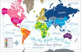World Map Australia by World Map Quilt Pitter Patterned
