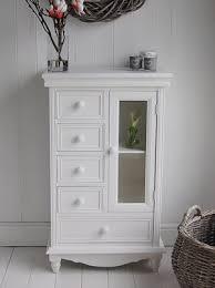 Bathroom Standing Cabinet White Storage Unit With Glaze Cupboard Shelf Home Sweet Home