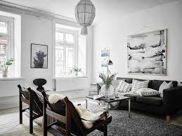 rustic scandinavian living room in the living