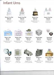 infant urns urns for ashes catalog potomac valley cremation center