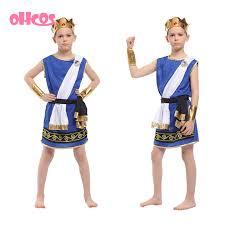 Egyptian Halloween Costumes Kids Free Shipping Kids Egypt Pharaoh Cosplay Costume Halloween