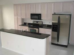 Kitchen Cabinets Black And White by Kitchen Black Glass Countertops Microwave Big Refrigerator White