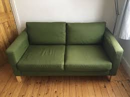 karlstad sofa and chaise lounge ikea karlstad sofa dark green two seater in east london
