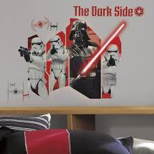 star wars dark side wall stickers great kidsbedrooms the home star wars dark side wall stickers