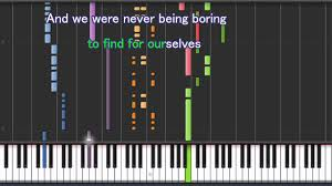 si鑒e pour piano being boring on synthesia karaoke lyrics