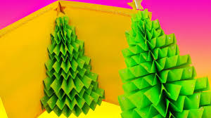diy 3d christmas tree pop up card greeting card youtube