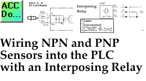 wiring npn and pnp sensors into the plc with an interposing relay