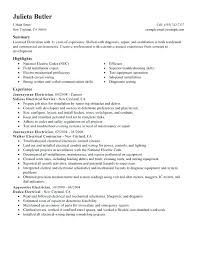 Download Resume For Electrical Engineer Electrical Resume Sample Journeymen Electricians Resume Sample