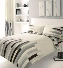 grey black u0026 cream block printed double duvet cover bed set