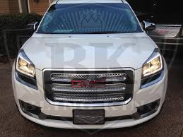 chrome bentley 2013 2016 gmc acadia chrome mesh grille grill insert overlay trim
