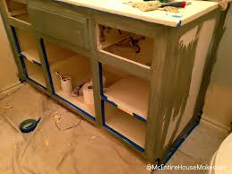 Painted Bathroom Cabinets by Mcentire House Makeover How To Paint Bathroom Cabinets