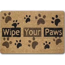 Buy Wipe Your Paws Door Dog Paw Funny Words Go Away Rubber Indoor Outdoor Welcome Anti