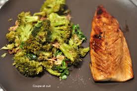 maquereaux laqués et poêlée de brocolis à l asiatique coupe et cuit