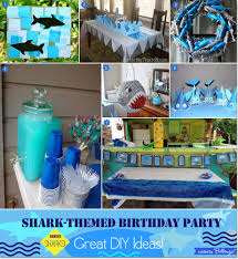 shark themed boy u0027s birthday party great diy ideas