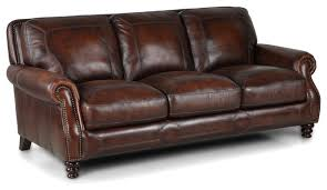 Chestnut Leather Sofa Simon Leather Sofa Brown Traditional Sofas By Simon Li