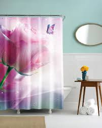Pink And Grey Shower Curtain by Winning Pink Bathroom Curtains Adorable Promotion For Promotional