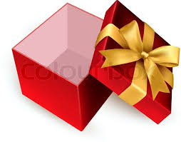 christmas present boxes christmas background with open gift box vector stock vector