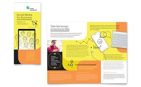 social media brochure template social media consultant tri fold brochure template design