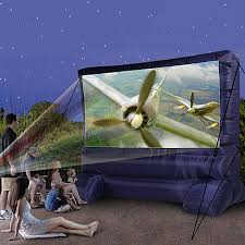 Backyard Outdoor Theater by Airblown Deluxe Widescreen Outdoor Inflatable 12ft Diagonal Movie
