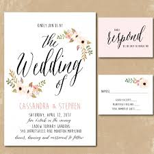 summer wedding invitations printable floral invitations watercolor wedding invitation print