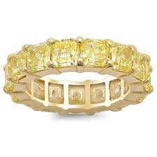 eternity rings diamonds images Yellow diamond and yellow gold eternity ring jpg